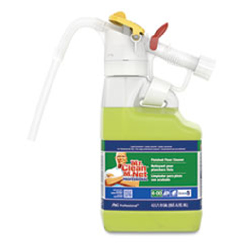 P&G Professional Dilute 2 Go  Mr Clean Finished Floor Cleaner  Lemon Scent  4 5 L Jug  1 Carton (PGC72000)