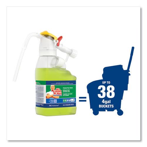P&G Professional Dilute 2 Go  Mr Clean Finished Floor Cleaner  Lemon Scent  4 5 L Jug  1 Carton (PGC72000)