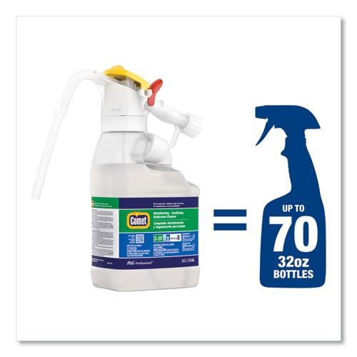 P&G Professional Dilute 2 Go  Comet Disinfecting - Sanitizing Bathroom Cleaner  Citrus Scent    4 5 L Jug  1 Carton (PGC72002)