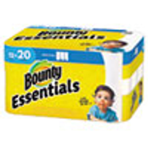 Bounty Essentials Select-A-Size Paper Towels  2-Ply  104 Sheets Roll  12 Rolls Carton (PGC74647)
