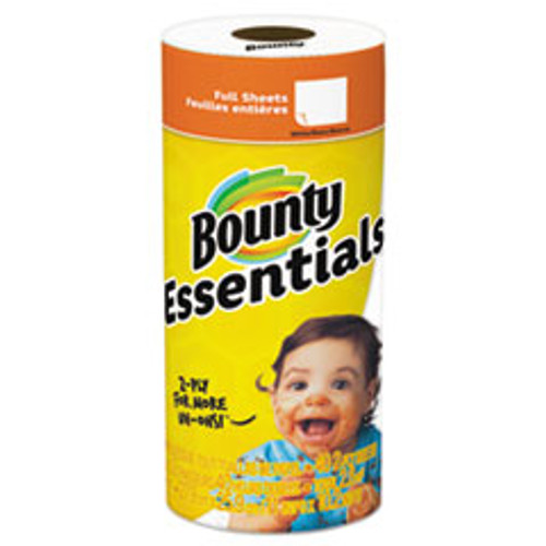 Bounty Essentials Paper Towels  2-Ply  White  10 2  x 11   40 Sheets Roll (PGC74657RL)