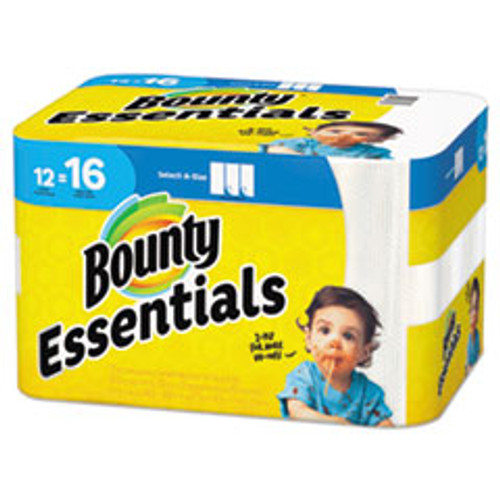 Bounty Essentials Select-A-Size Paper Towels  2-Ply  83 Sheets Roll  12 Rolls Carton (PGC74682)