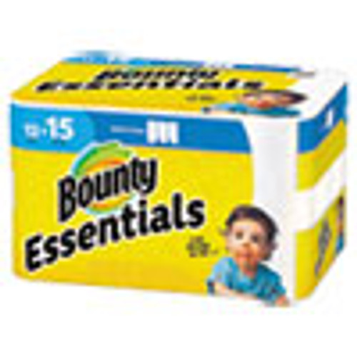 Bounty Essentials Select-A-Size Paper Towels  2-Ply  78 Sheets Roll  12 Rolls Carton (PGC75720)