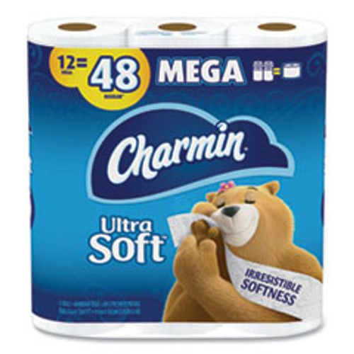 Charmin Ultra Soft Bathroom Tissue  Septic Safe  2-Ply  White  4 x 3 92  264 Sheets Roll  12 Rolls Pack  4 Packs Carton (PGC79546)
