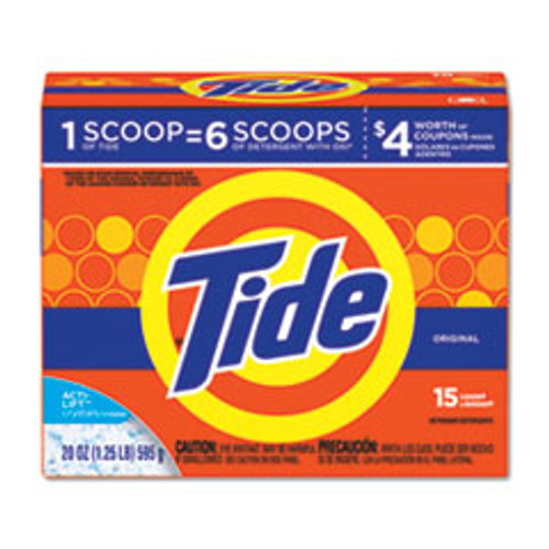Tide Powder Laundry Detergent  Original Scent  20 oz Box  6 Carton (PGC81244)