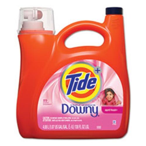 Tide Touch of Downy Liquid Laundry Detergent  April Fresh  138 oz Bottle  4 Carton (PGC87456)