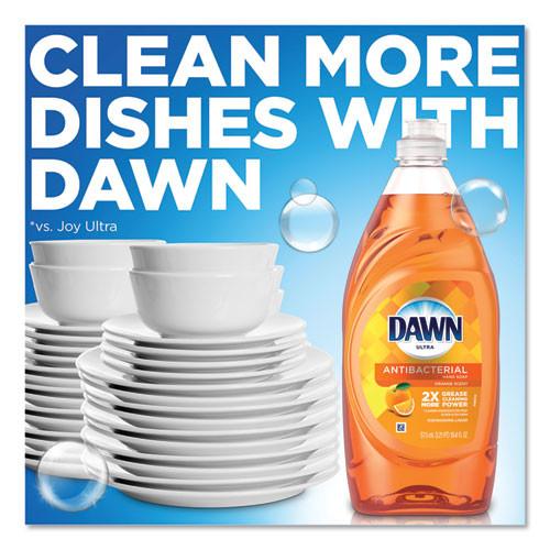Dawn Ultra Antibacterial Dishwashing Liquid  Orange  40 oz Bottle  8 Carton (PGC91092)