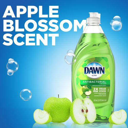 Dawn Ultra Antibacterial Dishwashing Liquid  Apple Blossom  40 oz Bottle  8 Carton (PGC91093)