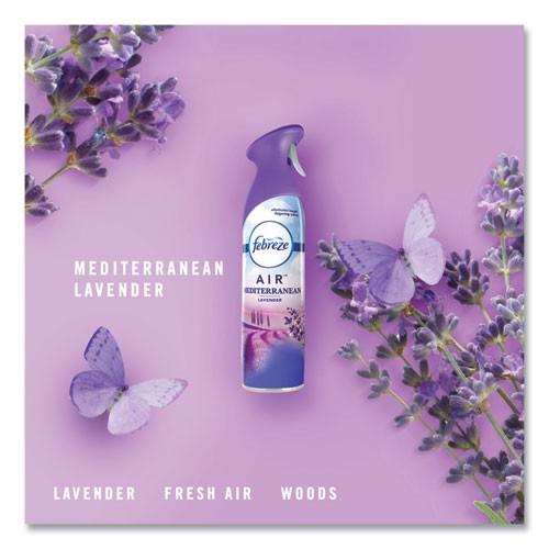 Febreze AIR  Mediterranean Lavender  8 8 oz Aerosol  6 Carton (PGC96264)