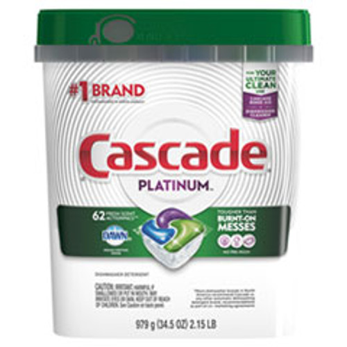Cascade ActionPacs  Fresh Scent  34 5 oz Bag  62 Bag (PGC97726PK)