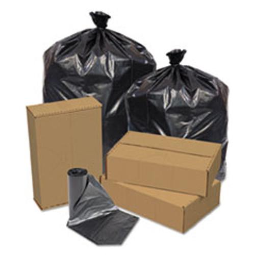 Pitt Plastics Eco Strong Can Liners  45 gal  1 5 mil  40  x 46   Black  100 Carton (PITEC404615K)