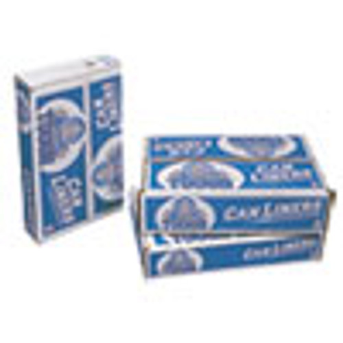 Pitt Plastics Linear Low Density Can Liners  60 gal  0 75 mil  38  x 58   White  100 Carton (PITMT601XW)