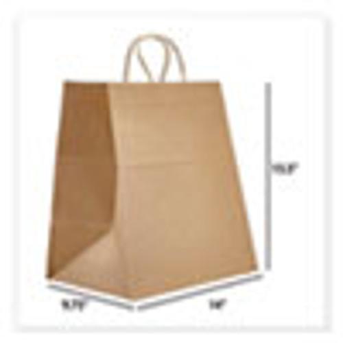 Prime Time Packaging Kraft Paper Bags  Super Royal  14 x 9 75 x 15 5  Natural  200 Carton (PTENK141015)