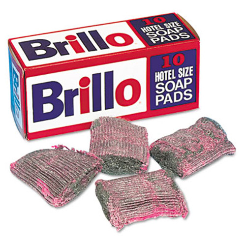 Brillo Hotel Size Steel Wool Soap Pad  10 Box (PUXW240000)