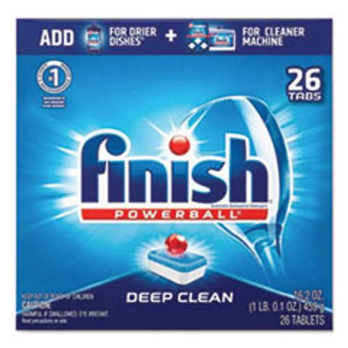 FINISH Powerball Dishwasher Tabs  Fresh Scent  26 Box (RAC20621)