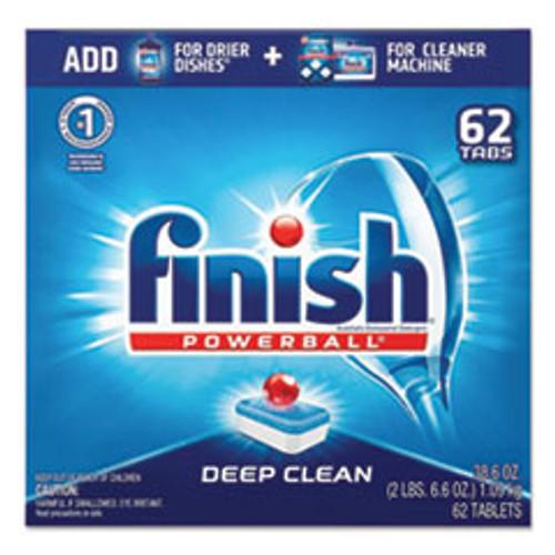 FINISH Powerball Dishwasher Tabs  Fresh Scent  62 Box  4 Boxes Carton (RAC20623CT)
