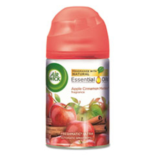 Air Wick Freshmatic Ultra Spray Refill  Apple Cinnamon Medley  Aerosol  5 89 oz  6 Carton (RAC78283CT)