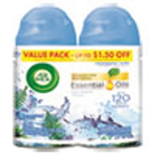 Air Wick Freshmatic Ultra Automatic Spray Refill  Fresh Waters  Aerosol  5 89 oz  2 Pack (RAC82093PK)