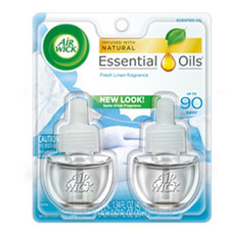 Air Wick Scented Oil Refill  Fresh Linen  0 67 oz  2 Pack (RAC82291PK)