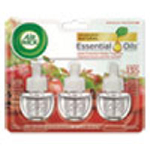Air Wick Scented Oil Refill  Warming - Apple Cinnamon Medley  0 67 oz  3 Pack  6 Packs Carton (RAC83550)
