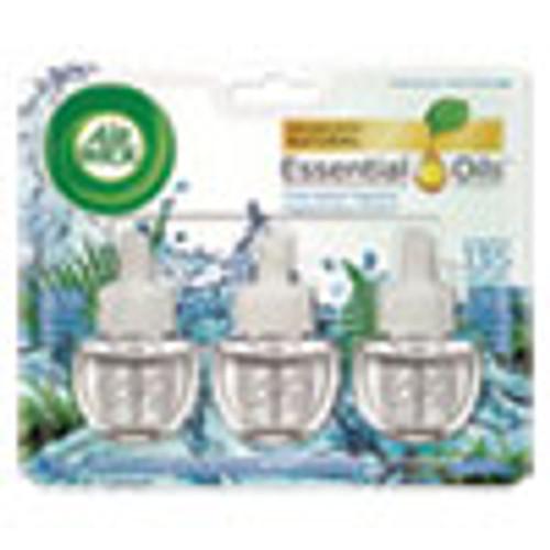 Air Wick Scented Oil Refill  Fresh Waters  0 67oz  3 Pack  6 Packs Carton (RAC84473)