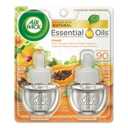 Air Wick Scented Oil Twin Refill  Hawai'i Exotic Papaya Hibiscus Flower  0 67 oz (RAC85175PK)