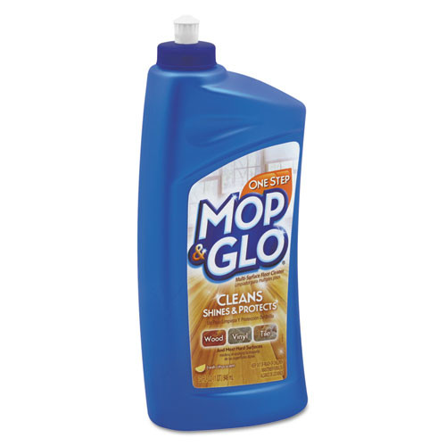 MOP & GLO Triple Action Floor Cleaner  Fresh Citrus Scent  32 oz Bottle (RAC89333CT)