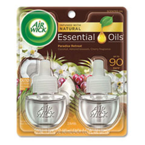 Air Wick Life Scents Scented Oil Refills  Paradise Retreat  0 67 oz  2 Pack (RAC91110PK)