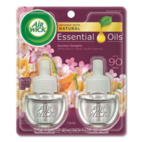 Air Wick Life Scents Scented Oil Refills  Summer Delights  0 67 oz  2 Pack (RAC91112PK)