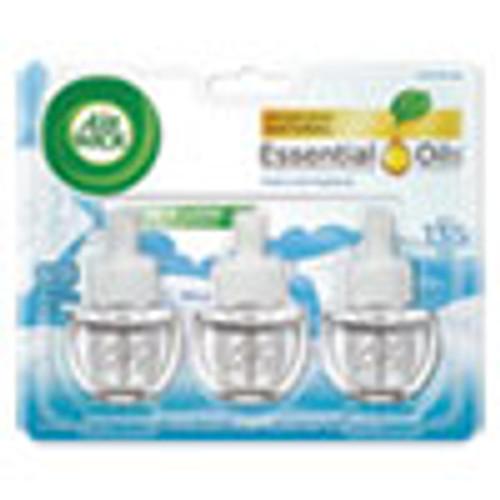 Air Wick Scented Oil Refill  Warming - Fresh Linen  0 67 oz  3 Pack  6 Packs Carton (RAC92858)