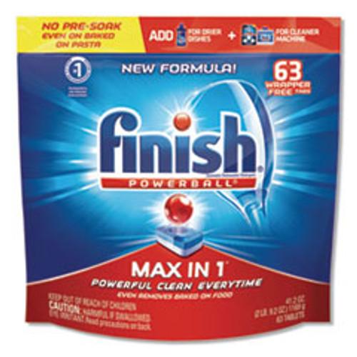 FINISH Powerball Max in 1 Dishwasher Tabs  Fresh  63 Pack (RAC93269PK)