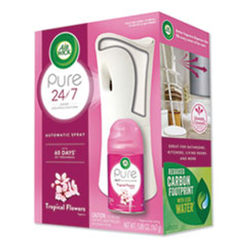 Air Wick Freshmatic Ultra Automatic Pure Starter Kit  3 33 x 3 53 x 7 76  White  Tropical Flowers (RAC97290KT)