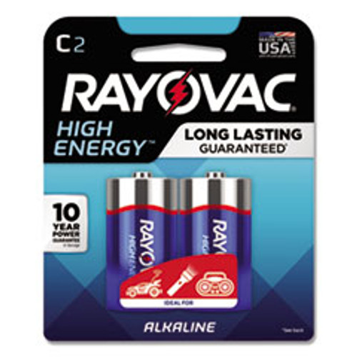 Rayovac High Energy Premium Alkaline C Batteries  2 Pack (RAY8142K)