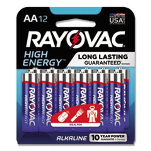 Rayovac High Energy Premium Alkaline AA Batteries  12 Pack (RAY81512CF)