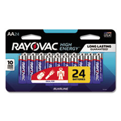 Rayovac High Energy Premium Alkaline AA Batteries  24 Pack (RAY81524LTK)