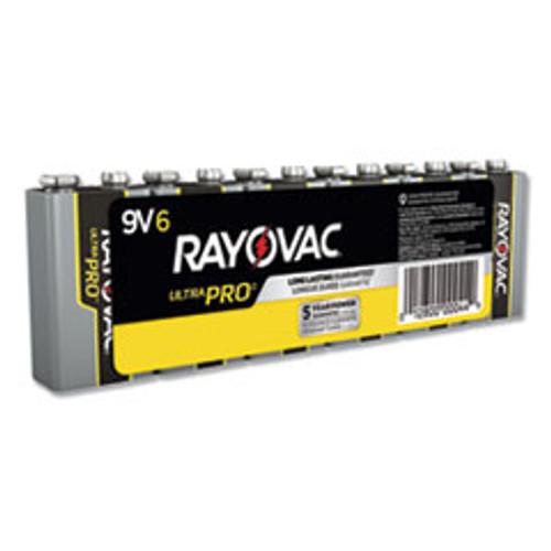 Rayovac Ultra Pro Alkaline 9V Batteries  6 Pack (RAYAL9V6J)