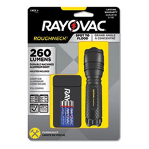 Rayovac LED Aluminum Flashlight  3 AAA Batteries  Included   Black (RAYRN3AAABA)