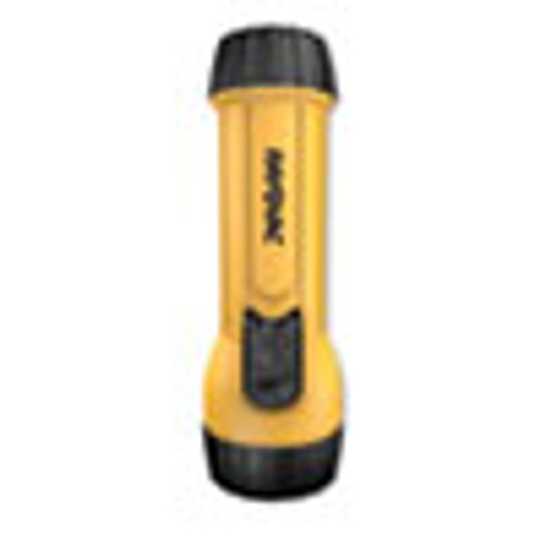 Rayovac Industrial Tough Flashlight  2 D Batteries  Sold Separately   Yellow Black (RAYWHK2DBULKA)