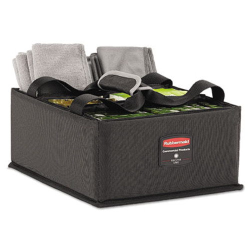 Rubbermaid Commercial Executive Quick Cart Caddy  Large  Dark Gray (RCP1902468EA)