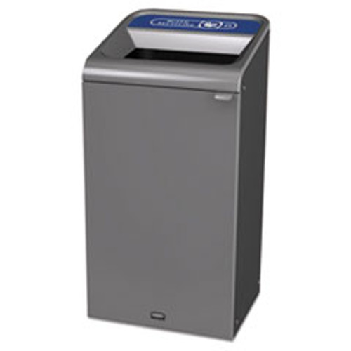 Rubbermaid Commercial Configure Indoor Recycling Waste Receptacle  23 gal  Gray  Mixed Recycling (RCP1961622)
