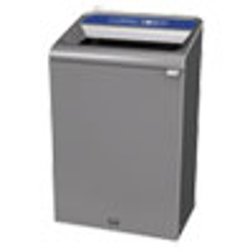 Rubbermaid Commercial Configure Indoor Recycling Waste Receptacle  33 gal  Gray  Mixed Recycling (RCP1961629)