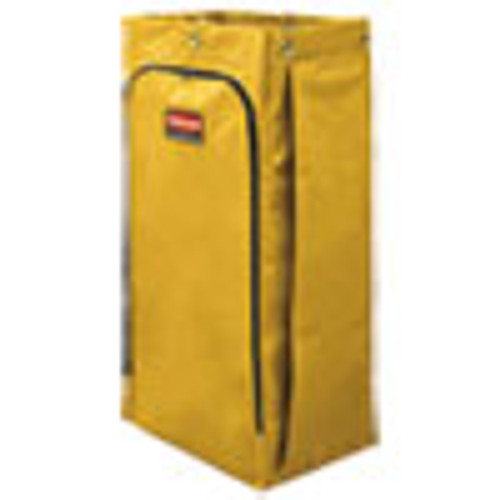 Rubbermaid Commercial Vinyl Cleaning Cart Bag  34 gal  17 5  x 33   Yellow (RCP1966881)