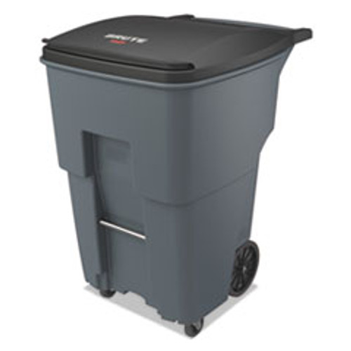 Rubbermaid Commercial Brute Rollouts with Casters  Square  95 gal  Gray (RCP1971994)