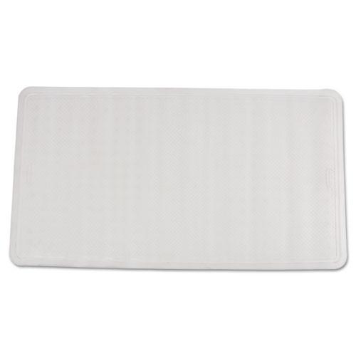 Rubbermaid Commercial Safti-Grip Latex-Free Vinyl Bath Mat  16 x 28  White (RCP1982726)