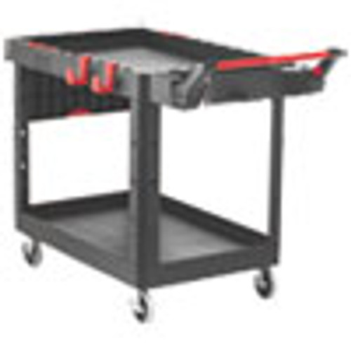 Rubbermaid Commercial Heavy Duty Adaptable Utility Cart  2 Shelves  25 2w x 51 5d x 36h  Black (RCP1997208)