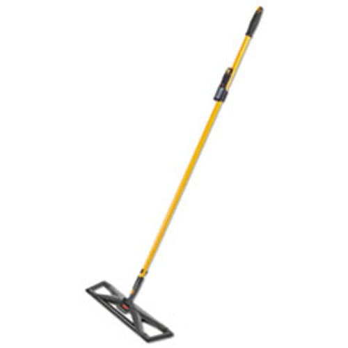 Rubbermaid Commercial Maximizer Dust Mop Frame with Handle and Scraper  24  x 5 5   Yellow Black (RCP2018808)