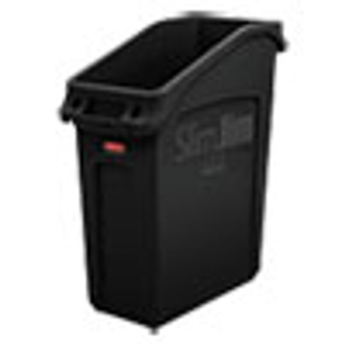 Rubbermaid Commercial Slim Jim Under-Counter Container  13 gal  Polyethylene  Black (RCP2026696)