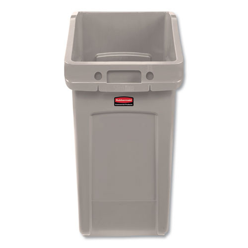 Rubbermaid Commercial Slim Jim Under-Counter Container  23 gal  Polyethylene  Beige (RCP2026724)