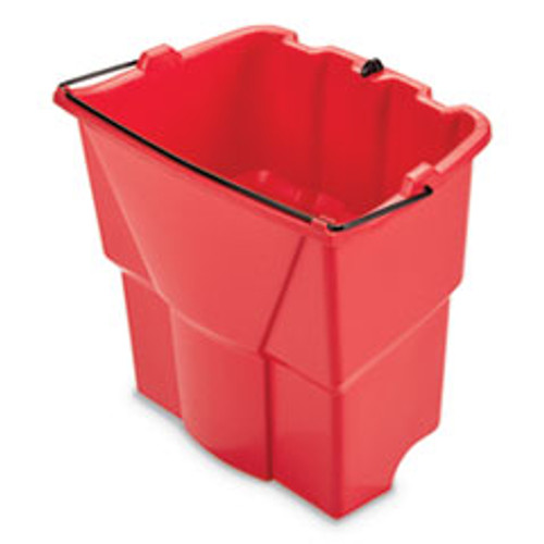 Rubbermaid Commercial WaveBrake 2 0 Dirty Water Bucket  18 qt  Plastic  Red (RCP2064907)