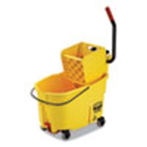 Rubbermaid Commercial WaveBrake 2 0 Bucket Wringer Combos  Side-Press  44 qt  Plastic  Yellow (RCPFG618688YEL)